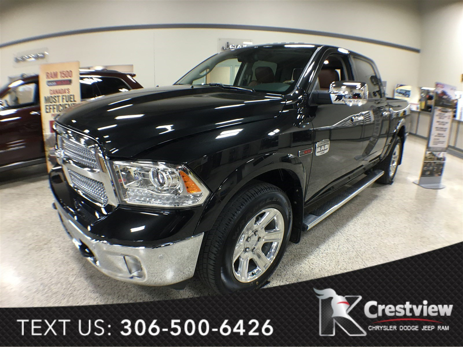 new 2016 ram 1500 longhorn crew cab ecodiesel sunroof navigation crew cab pickup near moose. Black Bedroom Furniture Sets. Home Design Ideas