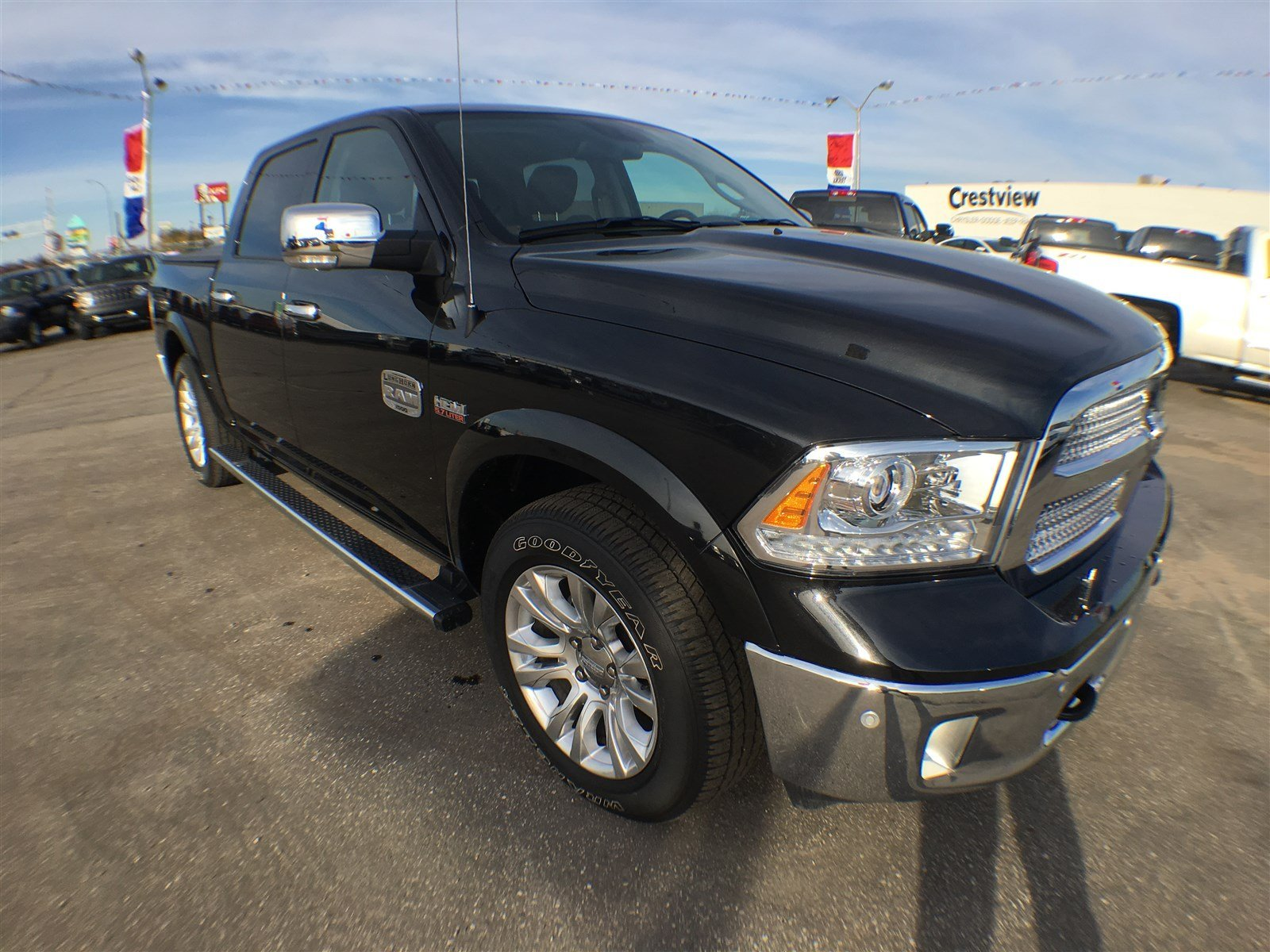 used 2016 ram 1500 longhorn crew cab leather sunroof navigation crew cab pickup near moose. Black Bedroom Furniture Sets. Home Design Ideas
